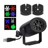 Snowflake Laser Projector Lamps Home indoor LED Stage Light Bowknot Jingle bell Holiday Party Christmas Decoration Light