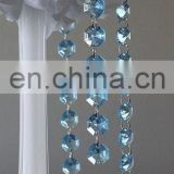 Wedding party chandelier Blue Crystal Garland