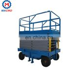 lift 3 Ton One Floor Stationary Manual Hydraulic Electric Scissor Cargo Goods Lift Platform Used