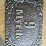 ​Door number logo Making Copperplate CNC making