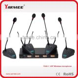 Four channels wireless conference system, conference table gooseneck microphone