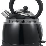 Black color stainless steel water kettle with Boil dry protection & 360 degree cordless
