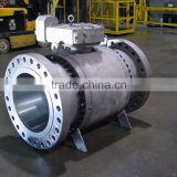 API forged trunnion ball valve for oil and gas pipeline with flanged or BW