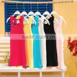 0.47USD Wholesale Stock Hot Sales Fashion Style Summer Blank Colorful Cotton Kids O-Neck Running Singlet Vest ( kctbx001)