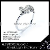 Most popular Fashion rings silver jewelry in the market delicate mouse shape ring animal ring