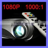 50 lumens LED lamp Built-in speaker 20,000 Hours Life Home Entertainment 8S LED Projector