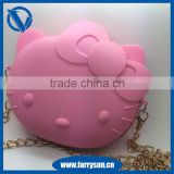 Hello Kitty silicone single chain shoulder bag with zipper