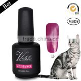 2015 high quality OEM private label 15ml cat's eyes nail gel polish 72colors