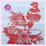 Creative Chinese Zodiac Paper-cut Concept Rabbit Ultra-quiet chicken ZJ-23