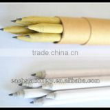 7'' HB Pencil Recycled Newspaper Pencil OEM Craft Paper Pencil