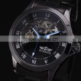 Hot Sale Fashion Brand Winner Automatic Self Wind Mechanical Wrist Watches Stainless Steel Strap Skeleton Watches