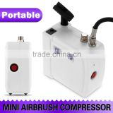 White HS08 Mini Airbrush Compressor Kit With UK Adapter for Nail Art Cake Decorating Temporary Tattoos Body Paint Makeup AS-35