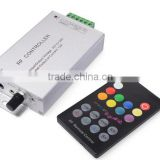 18-key RF music rgb led controller aluminum music rgb led controller audio audio Led rgb controller sound led controller CE,RoHS