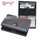 Whosale--MK500 Microvault car gun pistol portablel file key storage lock steel safe box (Mini Ipad box), document box