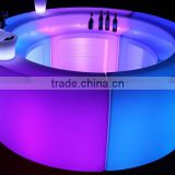 modern outdoor wedding and party colorful led lighting furniture PE plastic commercial use portable bar counter