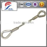 Stainless Steel Wire Rope Sling/galvanized ungalvanized rope cargo lifting slings/lifting tools
