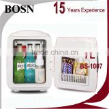 2016 BOSN 8L environmental-friendly horizontal 2016 new model usb portable mini fridge