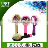 2015 Wholesale Alibaba Rainbow Wave Hair Brush Antistatic Detangler Mens Round Clean Brush Hair Beard Brush