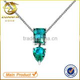 alibaba wholesale rhodium plated women silver zircon pendant necklace                                                                                                         Supplier's Choice