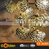 12 led Decorative Manufacturer Heart-Shaped Morocco led Light String