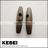 Fashion custom coat toggle two hole wood buttons