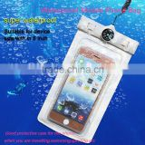 2016 Top pvc waterproof mobile pouch with neck strap, armband and eaphone for outdoor sports