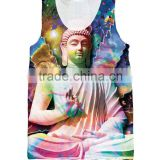 2016 hot sales Galactic Buddha 3d custom stringer tank tops print man women vest