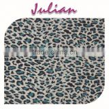 blue black leopard pattern nylon ultr thin spandex print burn out fabric