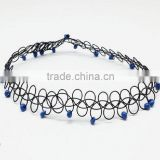 Wholesale handmade choker jewelry vintage stretch seed bead tattoo necklace