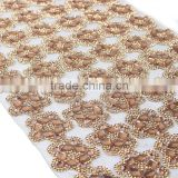 Glass Rhinestone Beaded Trim Iron On Strass Crystal Applique Banding Diamond Mesh Roll For Wedding Dresses Decorative