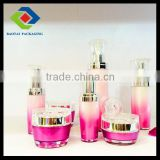 Plastic bottle acrylic flower series,cosmetic packaging new style injected color 15ml,30ml,60ml,100ml