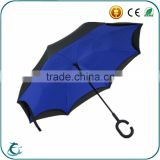 Newly-developed custom print C style handle inside out inverted umbrella