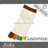 Custom Wholesale Women's Bright Colored Yoga Pilates Bamboo Fiber Five Toe Socks