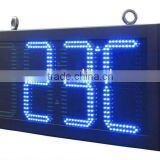 "24 inches OUTDOOR WATERPROOF 10"" inch 88:8C/F Red led sign time temperature outdoor, led time temperature display"