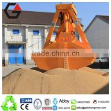 25T single rope wireless remote control clamshell grab bucket leak-proof grabs grain grapple for deck crane