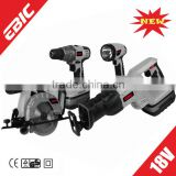 18V Cordless Tools Set/2014 New Power Tools/circular saw/cordless drill/reciprocating saw/flash light