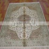 beige color super high quality home decoration rug handmade silk carpet tapestry pyayer silk rug carpet tile