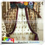 High class luxury living room curtain fabrics- floral design- bright color middle east dubai style