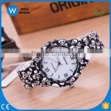 GW020 2016 fashion Resin Band Skull printing Geneva Brand watch women