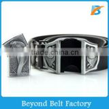 Men's Punk Style Black PU Leather Lighter Buckle Belt in Stock