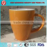 various color glaze cup, customed ceramic mugs with spoon handle