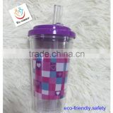 creative cup with collapsible straw which is convenient to carry