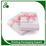 POPULAR CUSTOM HANDMADE RECYCLED DECORATIVE CARDBOARD PACKAGING GIFT CHOCOLATE PAPER BOX WITH RIBBON