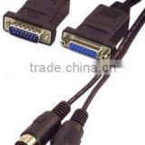 MIDI Cables Multi-Media Cable for Sound Card MIDI Port DB15 Male to two 5 pin Din Connectors