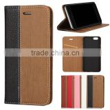 wood pattern flip PU leather phone case cover with card slot for Blu vivo studio air life pure xl 5.5 6.0 7.0 8