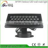 Outdoor wall Wash Light LED Par Light 36x3W RGBW Waterproof IP65 for Party Church Wedding Garden Landscape