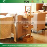 3 Tiers Natural Bambooo Wooden Bamboo Bathroom Shelves for Towels