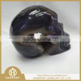bulk wholesale purple Amethyst geode skull for sale good for collection or home decoration