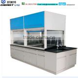 Electro-Galvanized Steel Fabrication Bench-Top Chemical Fume Hood With Sink And Fume Scrubber