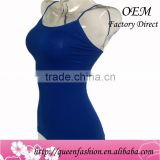 Slim tank top,Sexy fancy cheap crop tops wholesale, New summer 2016 women camisole made in China